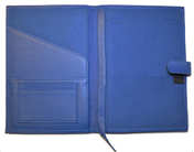Blue Full-Grain Leather Paper Journal Covers