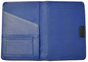 Blue Leather Paper Journal Cover
