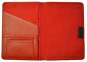 Red Leather Paper Journal Cover