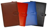 Refillable Leather Notebooks in British Tan, Red, Blue & Black